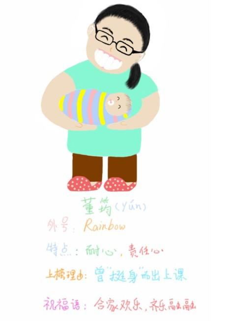 湖大知行学院大三学生手绘英语老师(组图)可爱漫画