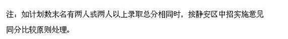 """静安区中考""""普通高中""""最低投档分数线3.jpg"""