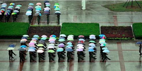 [大全]学生雨中漫步撑伞背影 - 学生下雨天为别人撑伞 - 学生撑伞