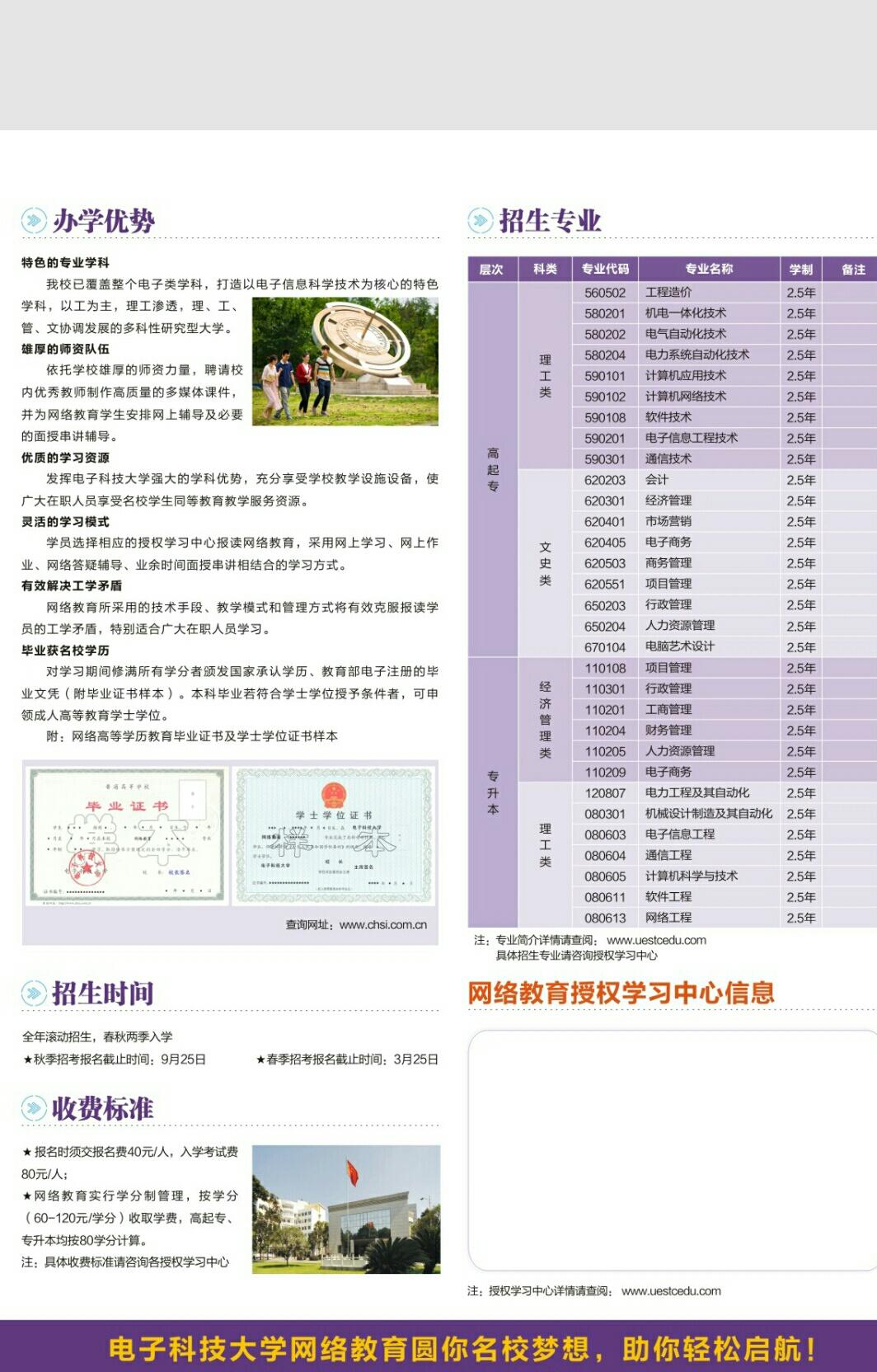 电子科技大学网络教育相册