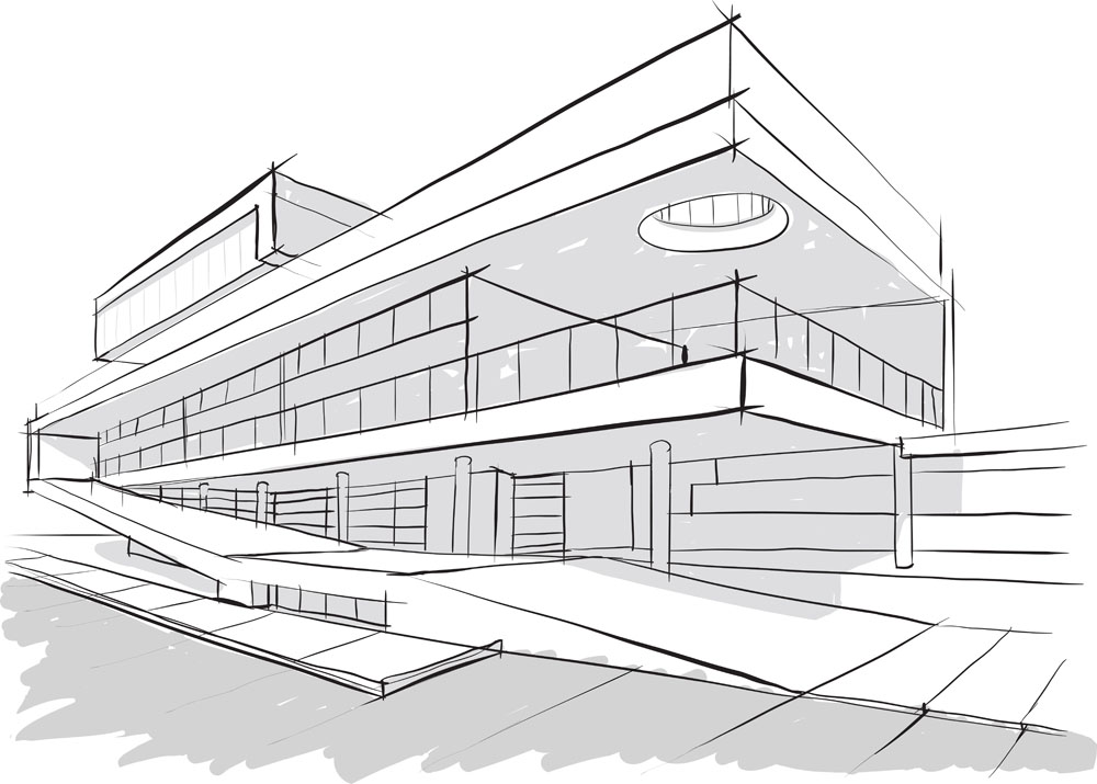 建筑专业手绘